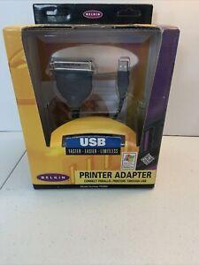 New Belkin USB Connectivity Parallel Adapter  F5U002 Original Box 1998