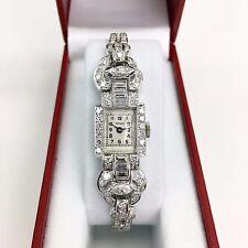 Vintage Original Tiffany and Co 3.52 Carats Diamond and Platinum Ladies Watch