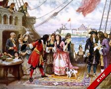 Captain Kidd The Pirate Visiting Nueva York Harbor Pintura Real Lienzo Estampa