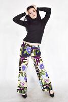 MOSCHINO Pantaloni Multicolore Stile Casual In Cotone TG 44 -M Donna Woman