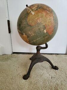 Vintage 1920's C.S. Hammond & Co. Antique 8 inch New Terrestrial Globe