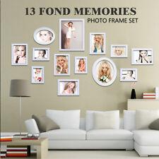 13 Stück weiß Holz Wand Bild Collage Bilderrahmen Art Decor Poster Set