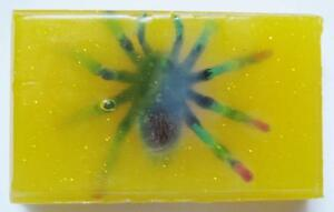 """HALLOWEEN """"SPOOKY SPIDER"""" ORGANIC SOAP + TOY PLASTIC SPIDER"""