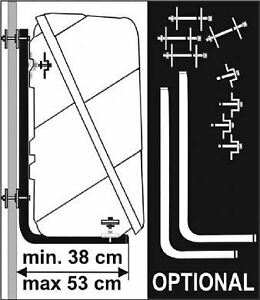 Fiamma Ultra Box Rear Wall Mounting Bracket Kit Caravan Motorhome Installation