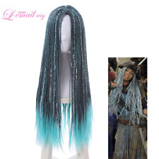 Descendants 2 Uma Cosplay Wig Long Braided Dreadlock Mixed Blue Wigs Hair