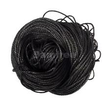 80m 1.5mm Waxed Cotton Bundle Cord String Thread Line Jewelry Making Black
