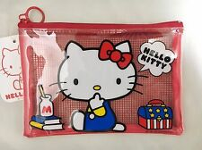 ❤ Sanrio Hello Kitty kawaii Mesh Vinyl Red Case ❤ for Sale in Japan Only