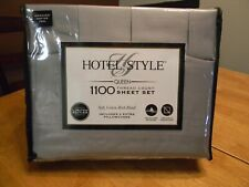 Hotel Style Queen Sheet Set 1100 Thread Count (2 sets) One silver, one beige.