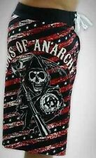 Sons Of Anarchy Stars & Stripes Reaper Board Shorts Swim Trunks Bathing Suit S
