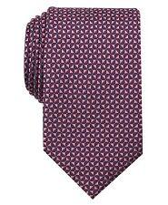 $114 PERRY ELLIS Mens PINK NAVALE TIE NECK DRESS CLASSIC NECKTIE 56X3.125