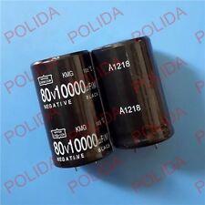 10PCS AUDIO Electrolytic Capacitor NIPPON size: 30*51mm 10000UF80V/80V10000UF