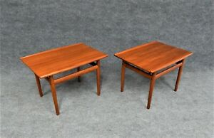 PR. MID CENTURY MODERN END TABLES BY GRETE JALK FOR GLOSTRUP