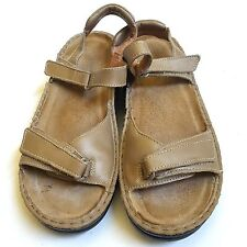 NAOT Sandals Beige Leather Open Toe Ankle Strap SIZE 40 EU 8.5 9 US