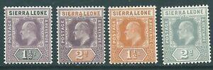 SIERRA LEONE 1903-1910 Edward VII mint stamp group