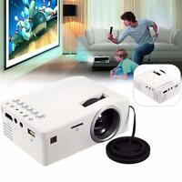 Portable Mini LED Projector Cinema Theater PC&Laptop VGA USB SD AV Input HDMI #M