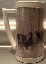 Thermo Serv BUDWEISER CLYDESDALE HORSES BEER WAGON SNOW SCENE  Mug