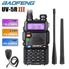 BAOFENG UV-5R III Tri-Band FM Walkie Talkie 5W Two Way Ham Radio + Speaker Mic