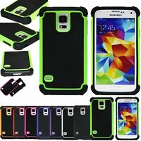 ShockProof Hybrid Rugged Combo Hard Soft Rubber Cover Case For Samsung Galaxy S5