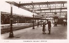 Tynemouth Railway Station Northumberland unused RP pc WHS Kingsway