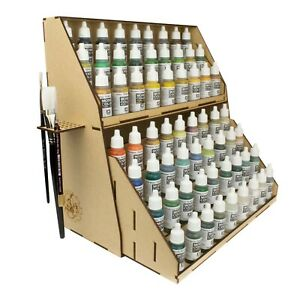MDF 7-TierPaint Station Stand Model Painting Wargame Holds 98 Vallejo Paints