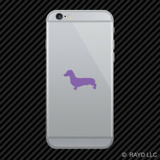 (2x) Dachshund Cell Phone Sticker Mobile wiener hotdog hot dog many colors
