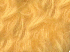 Gold Plain Faux Fur Fabric Short Hair 150cm Wide SOLD BY THE METRE