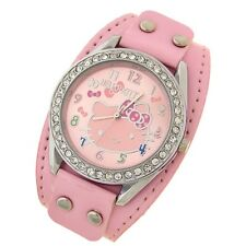 Reloj HELLO KITTY  Rosa con remaches y brillantes watch   A1085
