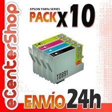 10 Cartuchos T0891 T0892 T0893 T0894 NON-OEM Epson Stylus SX205 24H