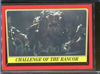 Paul Brooke Rancor Signed Topps Star Wars Card Authentic Autograph Auto *3