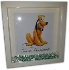 PLUTO Personalised Diamante Box Frame - Disney Print and Frame