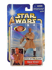 Mace Windu Star Wars Attack of the Clones Action Figure NIP Hasbro NIB