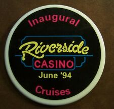 Vintage Plastic Pinback Button from Inaugural Cruise June 1994 Riverside Casino
