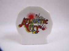Vintage Atlantic City Souvenir Toothpick Holder Lady Cards Porcelain Vintage
