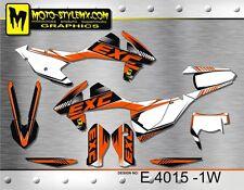KTM EXC 125 200 250 300 450 525 2017 2018 graphics decals kit Moto StyleMX