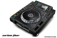Skin Decal Sticker Wrap for Pioneer CDJ 2000 Turntable DJ Mixer Pro Audio CARBON