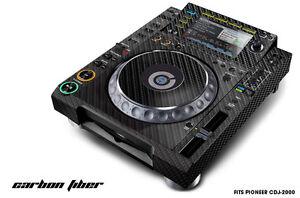 Skin Decal Sticker Wrap for Pioneer CDJ 2000 Turntable DJ Mixer Pro Audio CARBON