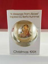 Christmas 1991 Schmid Collectors Gallery Ornament