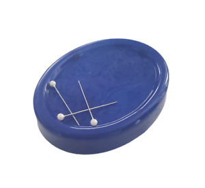 Magnetic Pin Cushion Dress Making Sewing Needles Paperclips Oval Holder Pick Up
