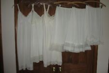 Vintage 60's LOT 6  Slips Half & Full Val Mode Rogers Aristocrat Pleated Ruffled