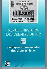 """""""POLITIQUES COMMERCIALES DES CHEMINS DE FER"""" REVUE AHICF (1993) TRAIN"""