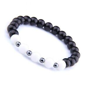 2021 New Vintage Stretch Stone Beads Men Women Care Bracelet Bangle Jewelry Gift