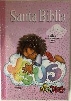 Biblia Mig & Meg para niñas tapa rústica Rosa Reina Valera 1960