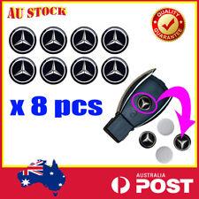 8 X MERCEDES BENZ Car Sticker Key Fob Remote Badge Emblem Logo Replacement 14mm