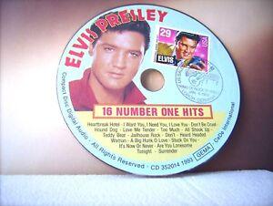 """ELVIS PRESLEY """" THE MILLION SELLERS -- CD - SOUNDCARD  mit  USA Briefmarke"""