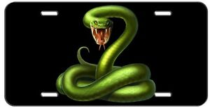 CUSTOM LICENSE PLATE GREEN SNAKE NOVELTY AUTO TAG