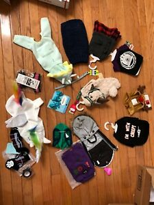 NWT DOG CLOTHES Lot of XS   X-Small ,Puppy COAT SHIRTS COLLARs  ACCESSORIES ETc