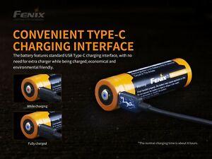 Fenix ARB-L21-5000U LiION Akku 21700 5000mAh USB-Anschluss Neu OVP