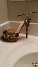 Christian Louboutin Madagascar Ankle Strap Heels In Size Eur 39