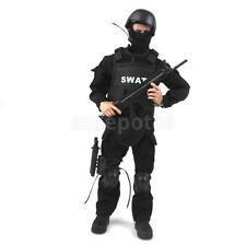 "12"" 1/6 SWAT Police Soldier Combat Suit Action Figure w/ Accessory"