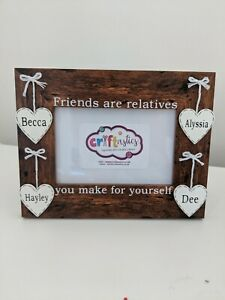 Personalised friends 4x6 picture photo frame best friend gift Christmas birthday